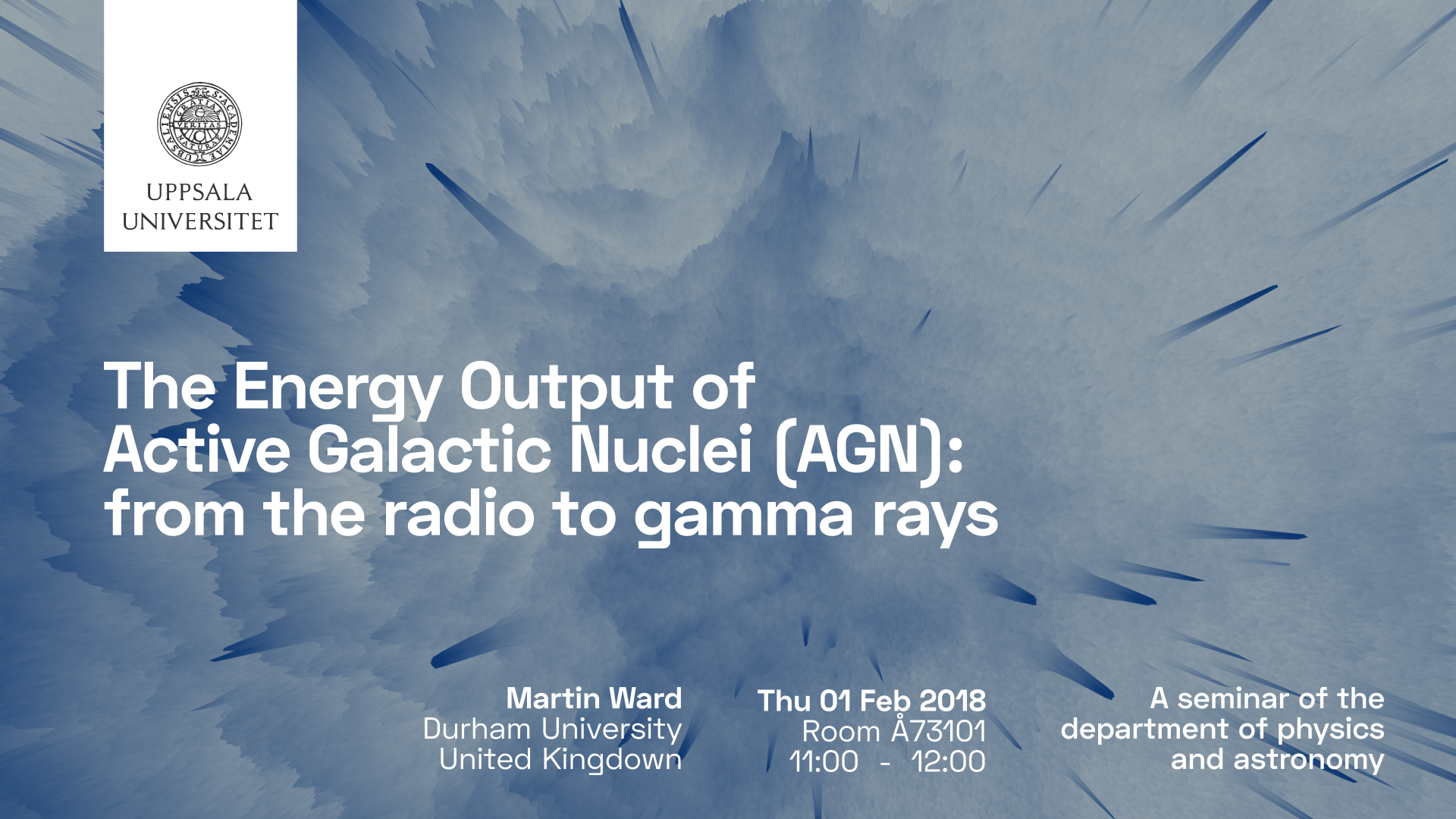 Seminar: The Energy Output of Active Galactic Nuclei (AGN): from the radio to gamma rays