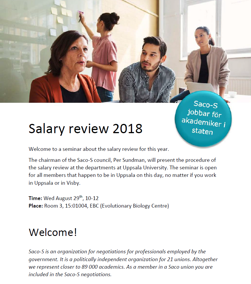 Salary review 2018