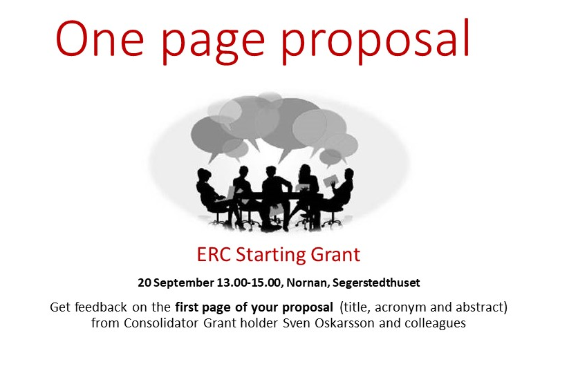 Get feedback on your proposal for ERC Starting Grant