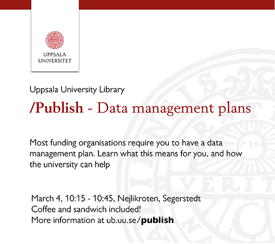 Publish - Data management plans