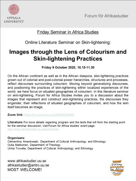 Online seminar: Images through the Lens of Colourism and Skin-lightening Practices